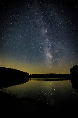 Milky Way Over Price Lake Art Print
