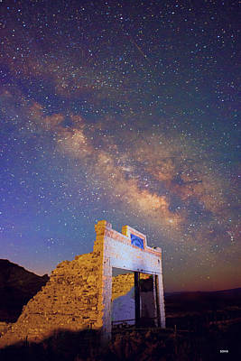 Photograph - Milky Way Over Rhyolite #1 by Dana Sohr