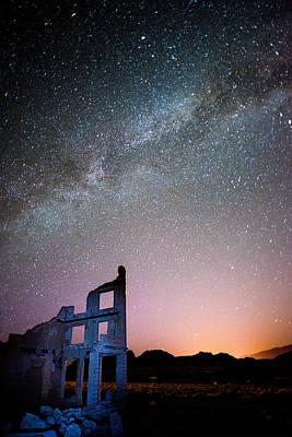 Photograph - Milky Way Over Rhyolite #2 by Dana Sohr