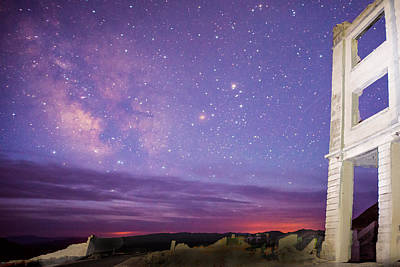 Photograph - Milky Way Over Rhyolite #3 by Dana Sohr