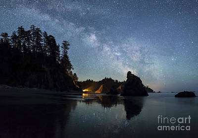 Pop Art Rights Managed Images - Milky Way over Ruby Beach   Royalty-Free Image by Colin D Young