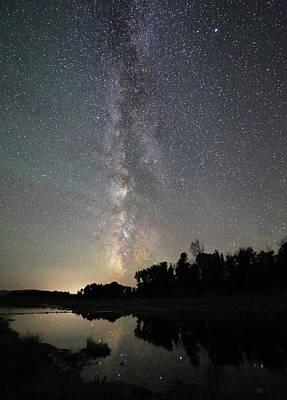 Photograph - Milky Way Over Schwabacher's Landing by Jean Clark
