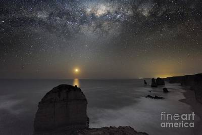 Moonlit Night Photograph - Milky Way Over Shipwreck Coast by Alex Cherney, Terrastro