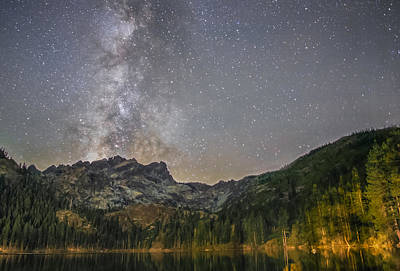 Galatic Photograph - Milky Way Over Sierra Buttes by Tony Fuentes