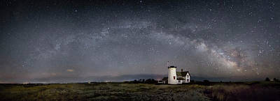 Photograph - Milky Way Over Stage Harbor by Betty Wiley