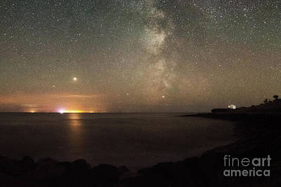 Photograph - Milky Way Over Steephill Cove by Clayton Bastiani
