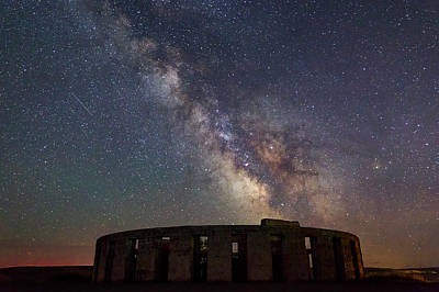 Photograph - Milky Way Over Stonehendge by Cat Connor