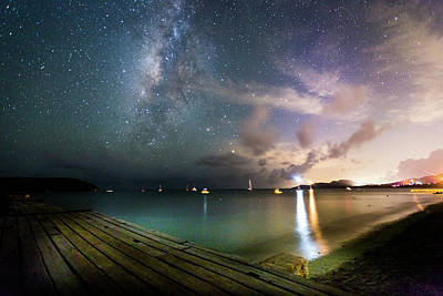 Photograph - Milky Way Over Sugar Cane Pier by Karl Alexander