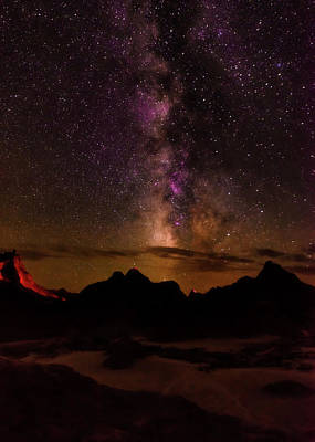Photograph - Milky Way Over The Badlands Np, South Dakota by Dick Wood