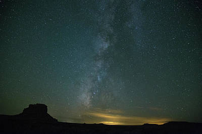 Photograph - Milky Way Over The Fajada Butte by Kunal Mehra