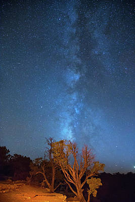 Photograph - Milky Way Over The Grand Canyon by Kunal Mehra