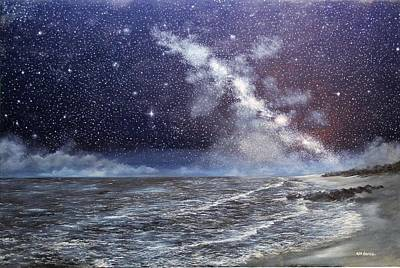 Painting - Milky Way Over The Jersey Shore by Ken Ahlering