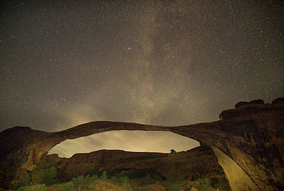 Photograph - Milky Way Over The Landscape Arch by Kunal Mehra