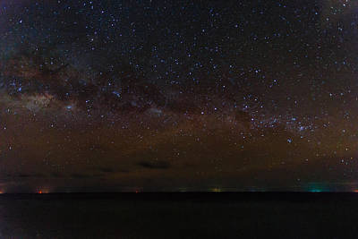 Photograph - Milky Way Over The Maldives by Stuart Gennery