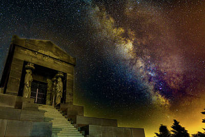 Photograph - Milky Way Over The Monument To The Unknown Hero In Belgrade by Dejan Kostic