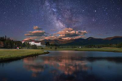 Milky Way Over The Omni Mount Washington Art Print