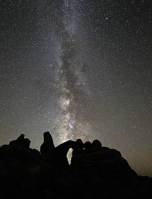Photograph - Milky Way Over Turret Arch by Jean Clark