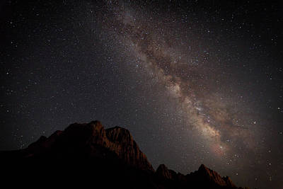 Photograph - Milky Way Over Zion by David Watkins