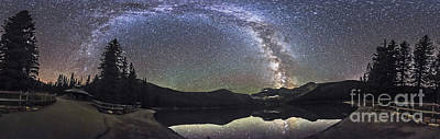Valentines Day - Milky Way Panorama At Cameron Lake by Alan Dyer