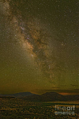 Photograph - Milky Way Rising Above Blue And Paradise Mountain - Davis Mountains West Texas by Silvio Ligutti