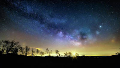 Planets Photograph - Milky Way Rising by Bill Wakeley
