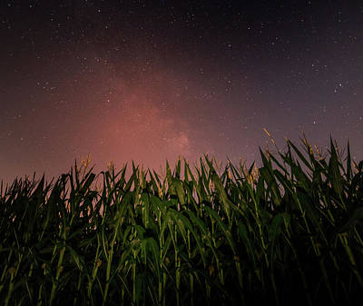Photograph - Milky Way Rising Over Farm Field by Dan Sproul