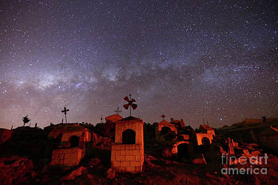 Astro Photograph - Milky Way Setting Over Milluni Cemetery Bolivia by James Brunker