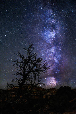 Sillouette Photograph - Milky Way Silhouette by Hudson Marsh