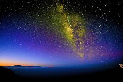 Photograph - Milky Way Sunrise by Chris Featherstone