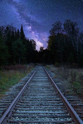 Photograph - Milky Way Tracks by Chris Whiton