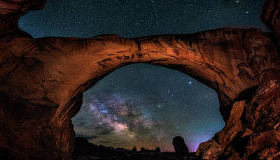 Photograph - Milky Way Under The Arch by Michael Ash