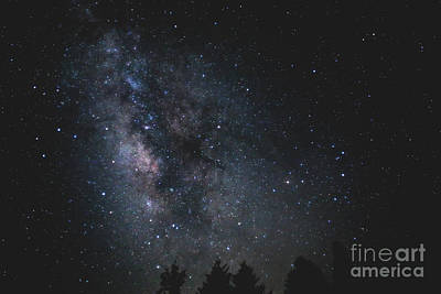 Photograph - Milkyway Over Great Smoky Mountains by Charline Xia