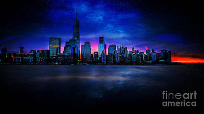 Photograph - Milkyway Over Manhattan by Jim DeLillo
