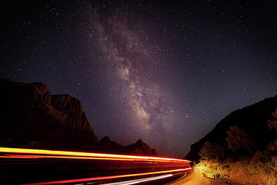 Photograph - Milkyway Over The Higway by David Watkins