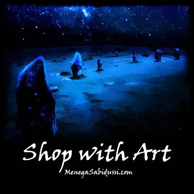 Painting - Milkyway Over The Hurlers - Shop With Art by Menega Sabidussi
