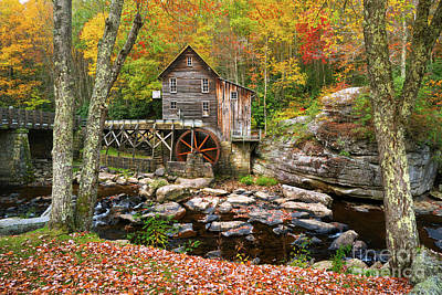 Photograph - Mill At Babcock State Park by Benedict Heekwan Yang