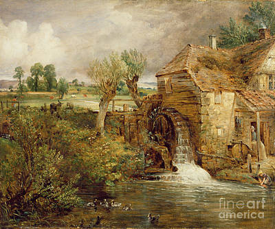 Mill At Gillingham - Dorset Print by John Constable
