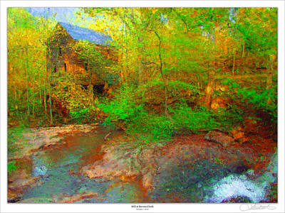 Old Mills Painting - Mill At Stevens Creek by Lar Matre
