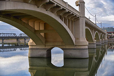 Photograph - Mill Avenue Bridge In Tempe Arizona Color by Dave Dilli