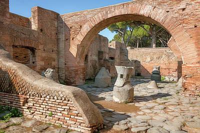Photograph - Mill-bakery At Ostia Antica Italy by Joan Carroll