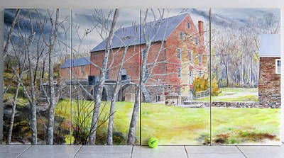 Mill Beyond The Trees Original