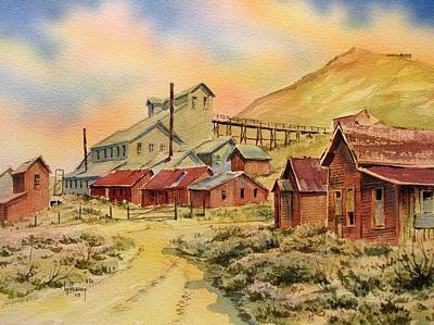 Bodie California Painting - Mill Bodie Ghost Town California by Kevin Heaney