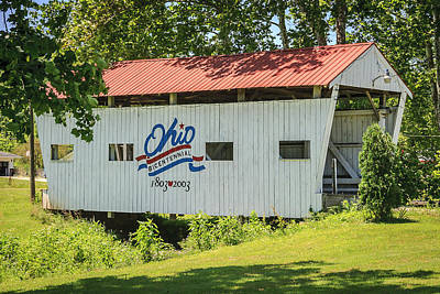 Music Royalty-Free and Rights-Managed Images - Mill Branch Covered Bridge by Jack R Perry