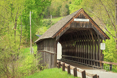 Photograph - Mill Bridge Meriden New Hampshire by Edward Fielding