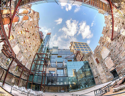 Mill City Museum Wide Angle View Art Print by Jim Hughes