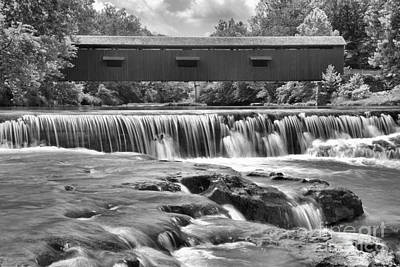 Photograph - Mill Creek Cascades Black And White by Adam Jewell