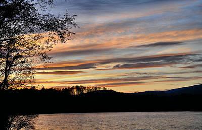 Mill Creek Lake Sun Set Art Print