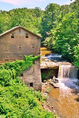 Photograph - Mill Creek Park Lanterman's Mill And Covered Bridge Vertical by Lisa Wooten