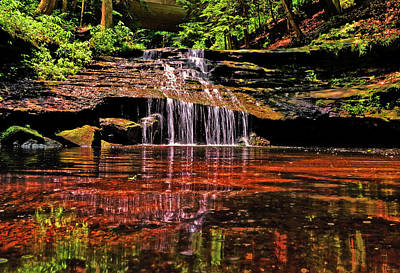 Photograph - Mill Creek Park Waterfalls 002 by George Bostian