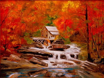 Painting - Mill Creek by Phil Burton